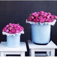 15 кустовых роз в коробке R037