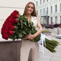 Красные розы высотой 150 см R034