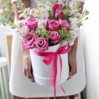 Сборные цветы в коробке R002