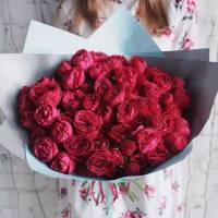 Букет 19 веток пионовидной розы в упаковке ъёъR019