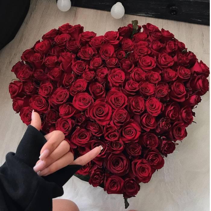 Сердце 101 красная роза R509