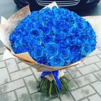 Букет 39 синих роз R009